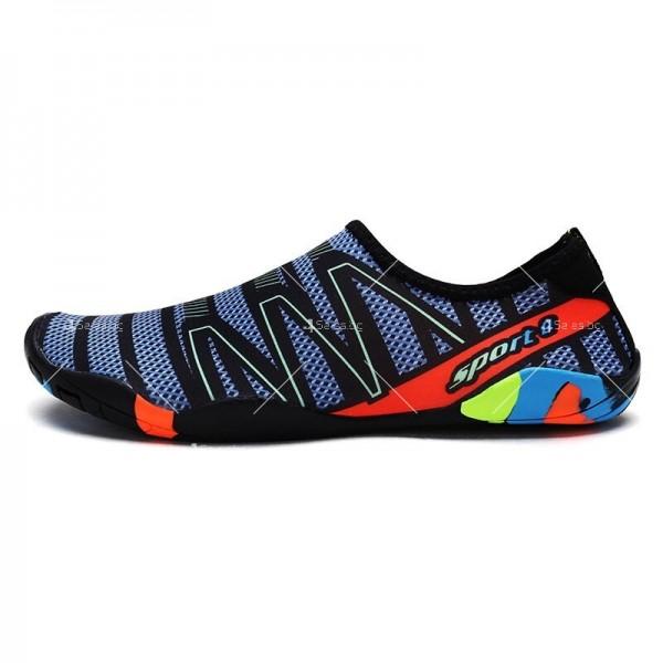 Мъжки аква обувки от бързосъхнеща материя и неплъзгаща се гумена подметка X SHOE1 2