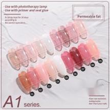 Комплект от 9 броя дълготраен лак за нокти ZJY116