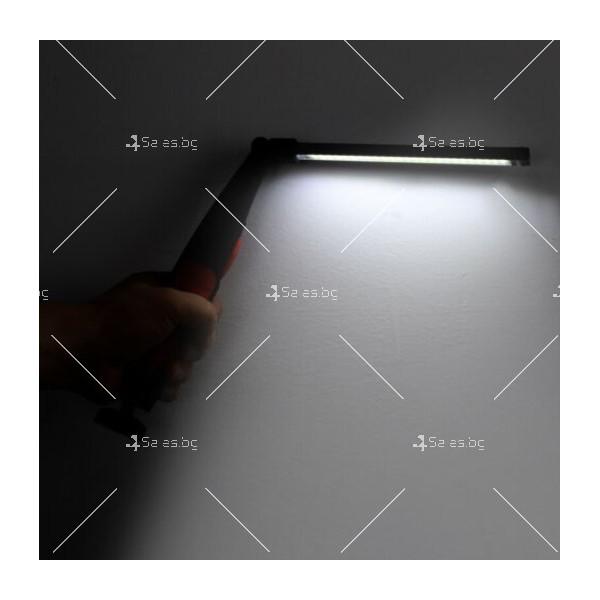 LED фенер с USB зареждане, 360 градуса завъртане и чупещо се рамо 3