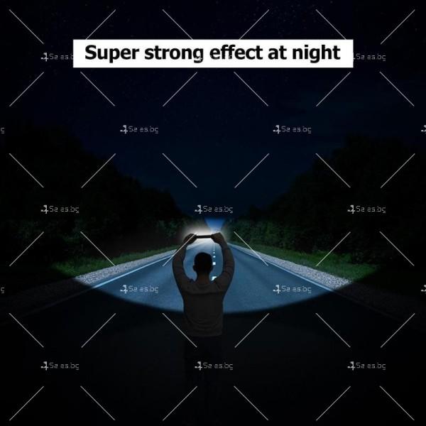 LED фенер с USB зареждане, 360 градуса завъртане и чупещо се рамо 6