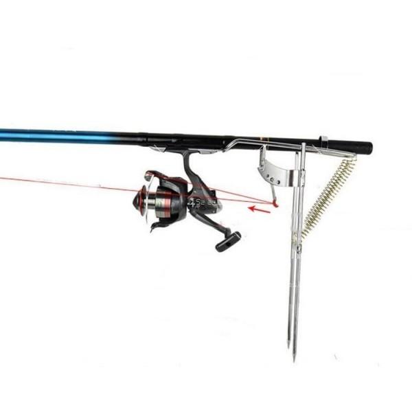 Автоматичен държач за въдица с двойна пружина от неръждаема стомана 2