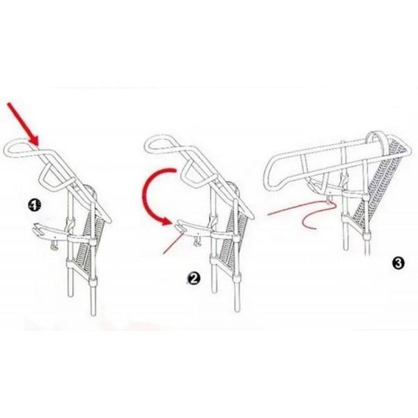 Автоматичен държач за въдица с двойна пружина от неръждаема стомана 3