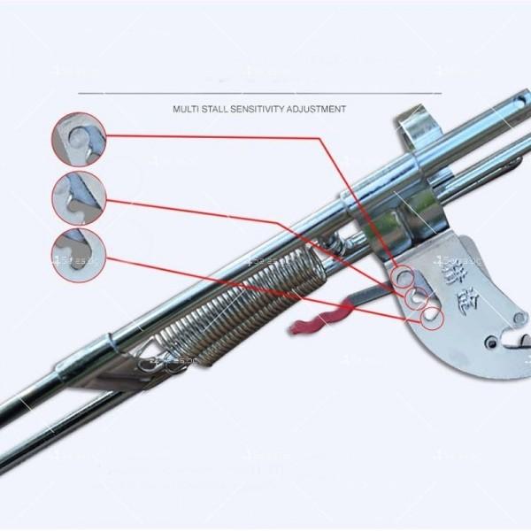 Автоматичен държач за въдица с двойна пружина от неръждаема стомана 13