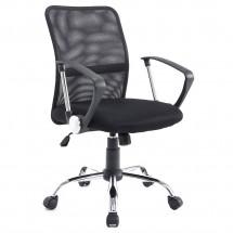 Стол за бюро с облегалка от дишаща материя и регулираща се седалка