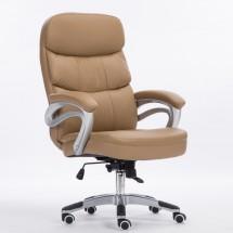 Голям офис стол с люлееща се седалка и въртящ се механизъм