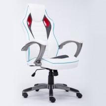 Модерен офис стол от еко кожа с регулируема височина на седалката