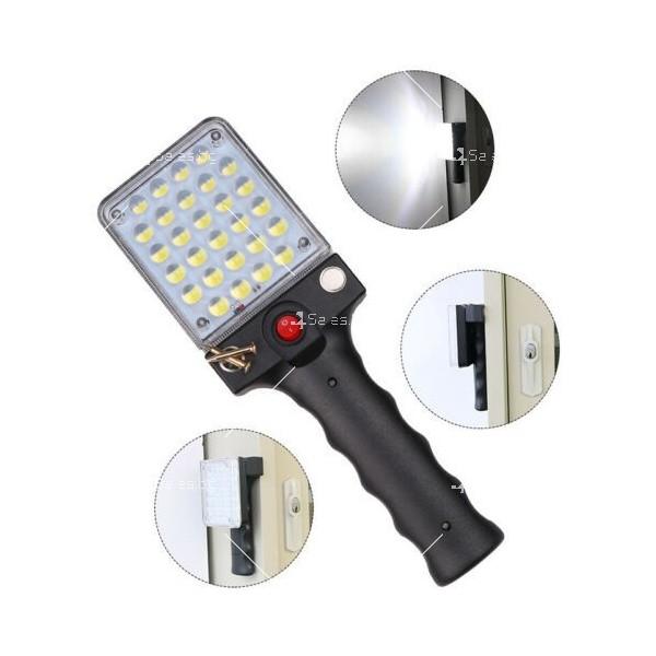 LED Преносим фенер - работна лампа с вградена батерия, магнит и кука FL79 2