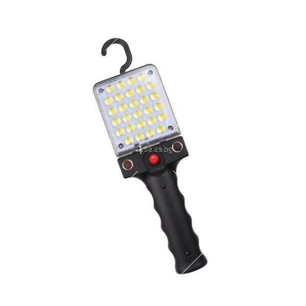 LED Преносим фенер - работна лампа с вградена батерия, магнит и кука FL79 4