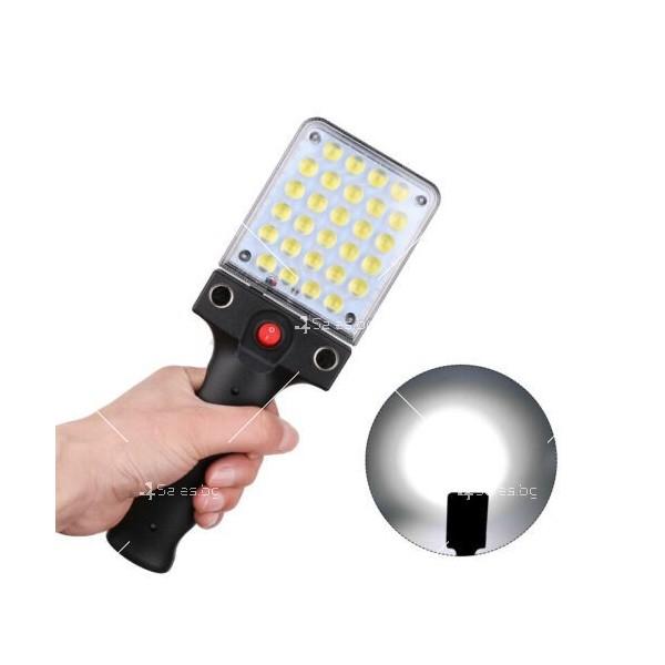 LED Преносим фенер - работна лампа с вградена батерия, магнит и кука FL79 5