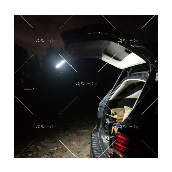 LED Преносим фенер - работна лампа с вградена батерия, магнит и кука FL79 9