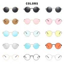 Стилни слънчеви дамски очила с кръгли стъкла YJ36