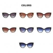 Модерни слънчеви дамски очила с форма на котешко око YJ38