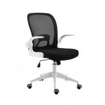 Удобен стол за бюро с регулируема височина и прибираща се облегалка