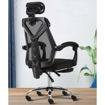 Офис стол с регулираща се седалка, облегалка с мрежа и подложка за крака