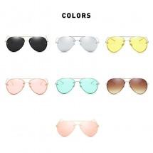 """Слънчеви очила с форма на стъклата """"Авиатор"""" в различни цветове YJ53"""