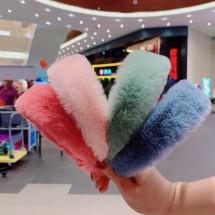 Плюшена диадема за глава имитация на заешки пух, различни цветове F23