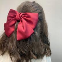Сатенена шнола с панделка за коса в различни цветове F25