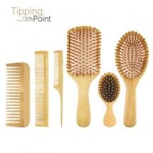 Дървени гребени и четки за коса от бамбук на брой или в комплект F36