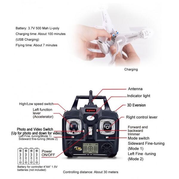 Дрон Komme K300C Howk Eye 0.3Mpx камера и 3D обръщане 11