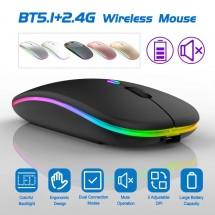 Безжична Bluetooth мишка в няколко цвята MS6 BT+2.4G MS6