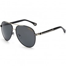"Нов модел поляризирани луксозни мъжки слънчеви очила с форма ""Авиатор"" YJ91"