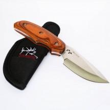 Джобен ловно-туристически нож с дървена дръжка и стоманено острие BUCK 480