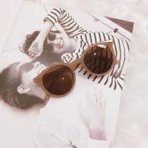 Дамски ретро слънчеви очила с кръгли стъкла и издължена рамка