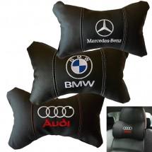 Комплект от два броя ергономични възглавници за седалка с ластик за автомобил
