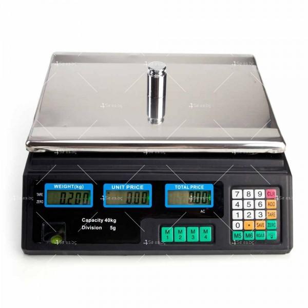 Професионална електрическа везна с автоматично ценообразуване до 40 кг TV925