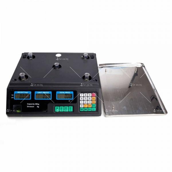 Професионална електрическа везна с автоматично ценообразуване до 40 кг TV925 2