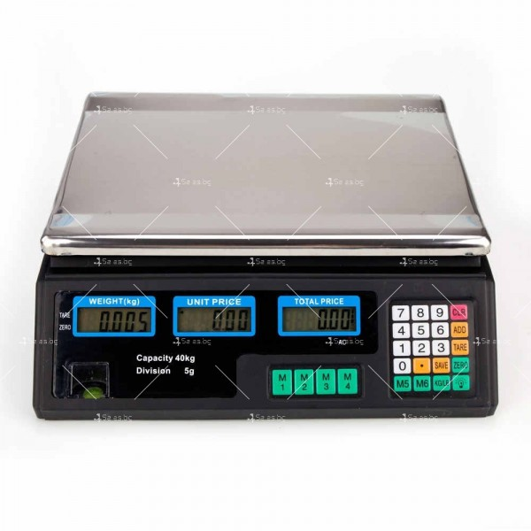 Професионална електрическа везна с автоматично ценообразуване до 40 кг TV925 3