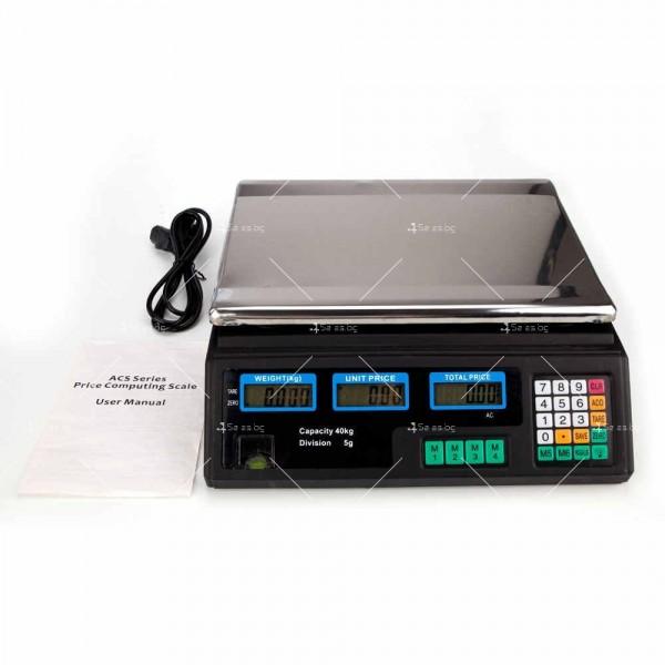 Професионална електрическа везна с автоматично ценообразуване до 40 кг TV925 4