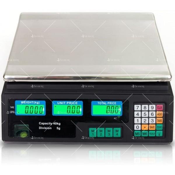 Професионална електрическа везна с автоматично ценообразуване до 40 кг TV925 6