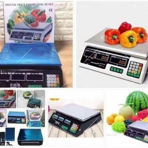 Професионална електрическа везна с автоматично ценообразуване до 40 кг TV925 7