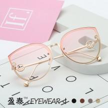 """Дамски очила с форма тип """"котешко око"""" в различни цветове YJ75"""
