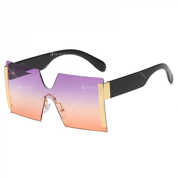 Елегантни дамски слънчеви очила с големи квадратни форми на стъклата YJ76 7