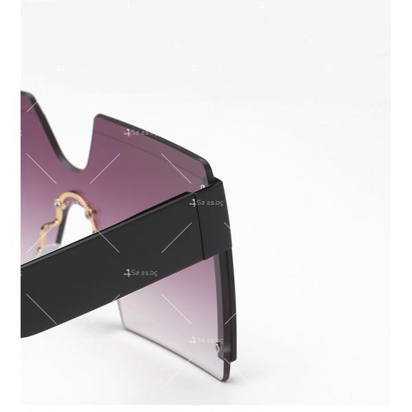 Елегантни дамски слънчеви очила с големи квадратни форми на стъклата YJ76 11