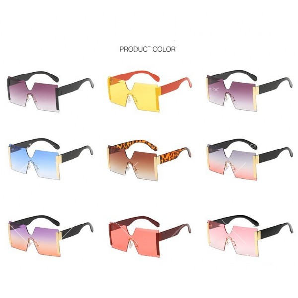 Елегантни дамски слънчеви очила с големи квадратни форми на стъклата YJ76 12