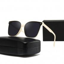 Поляризирани слънчеви очила с млечно бяла рамка и големи стъкла YJ89