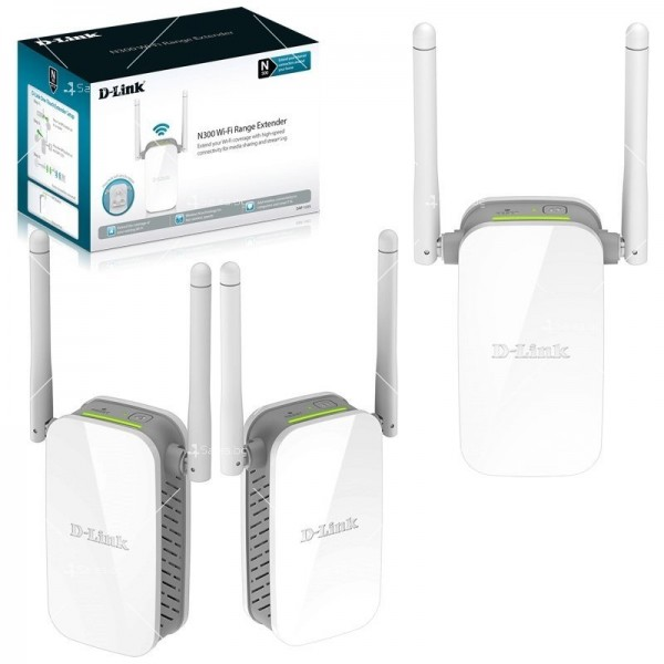 Wifi усилвател за лесно конфигуриране D-Link Wireless Range Extender N3000 2