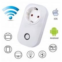 Безжичен смарт контакт, с гласов контрол, 230VAC, 2500W - SKT1