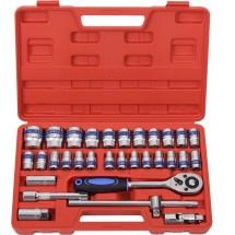Комплект от 32 инструмента за ключ с тресчотка + Удобен куфар за съхранение