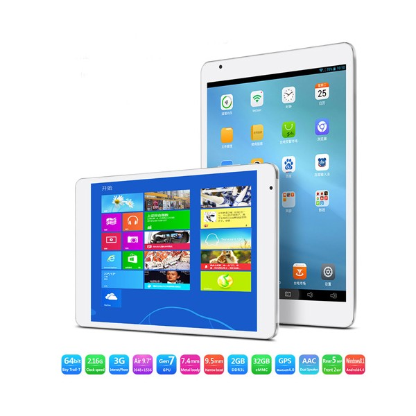 Teclast x98 air 3g , две операционни системи, Android 4.4 и Windows 8.1 1
