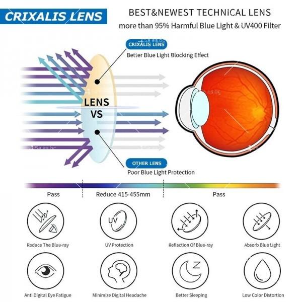 Grixalis дамски очила за компютър против синя светлина 11