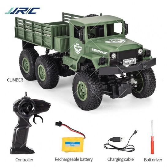 Реалистичен детски военен камион с дистанционно управление JJRC - TOY CAR30