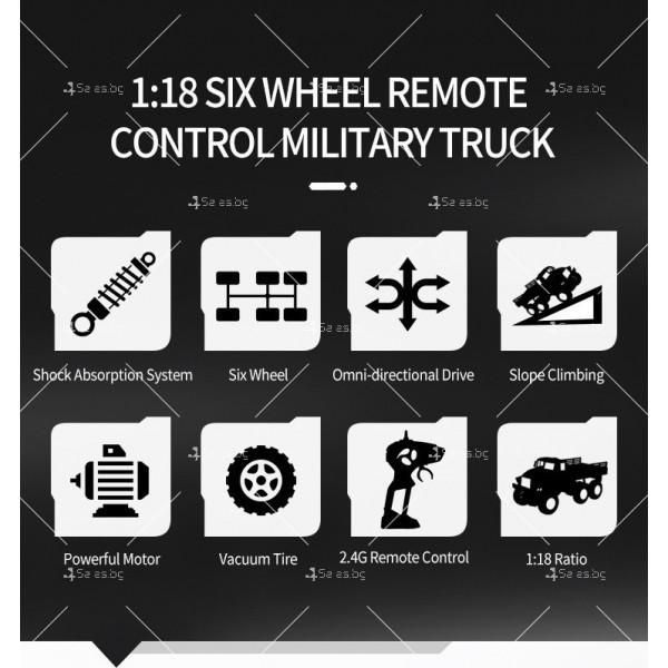 Реалистичен детски военен камион с дистанционно управление JJRC - TOY CAR30 3