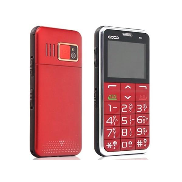 Телефон за възрастни хора с големи бутони и sos бутон 2
