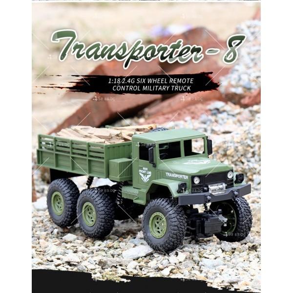 Реалистичен детски военен камион с дистанционно управление JJRC - TOY CAR30 5