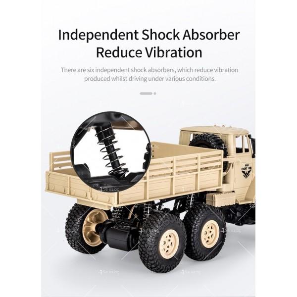 Реалистичен детски военен камион с дистанционно управление JJRC - TOY CAR30 6