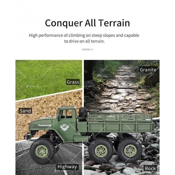 Реалистичен детски военен камион с дистанционно управление JJRC - TOY CAR30 8